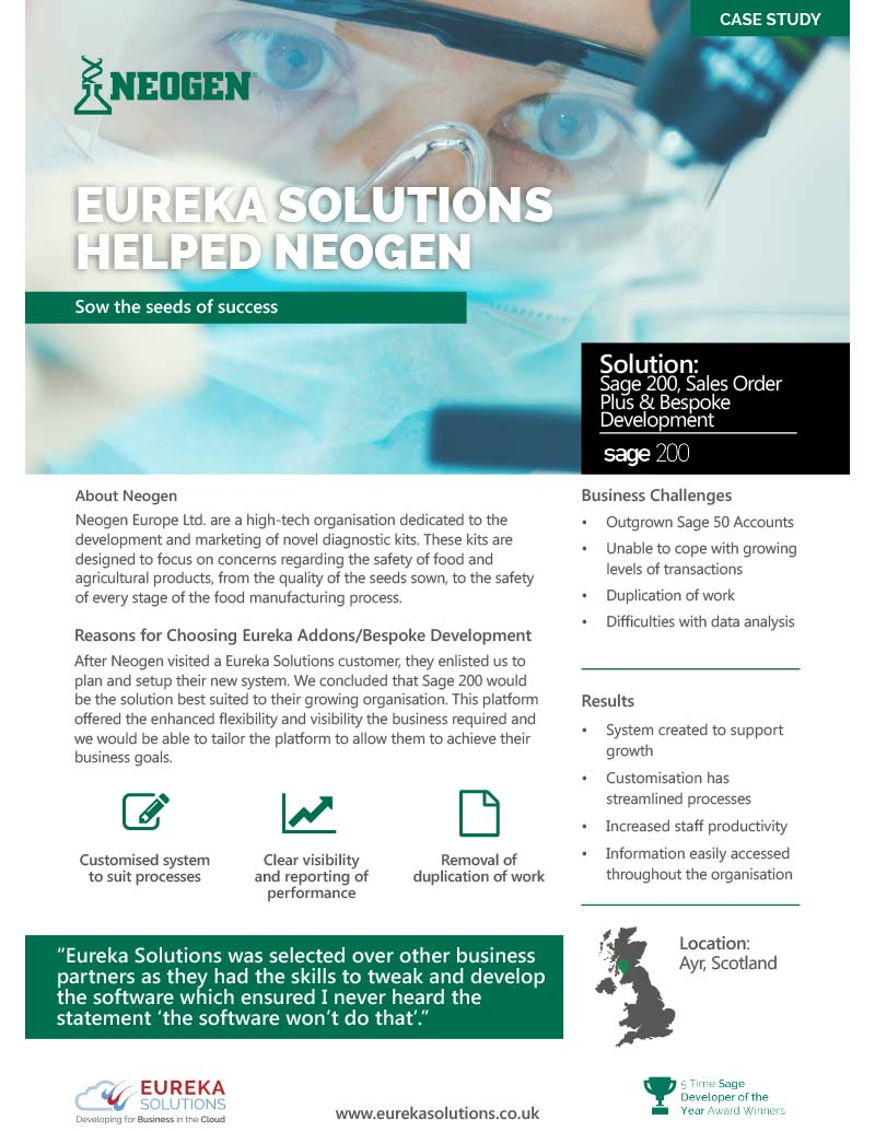 Neogen Sage 200 Case Study Review
