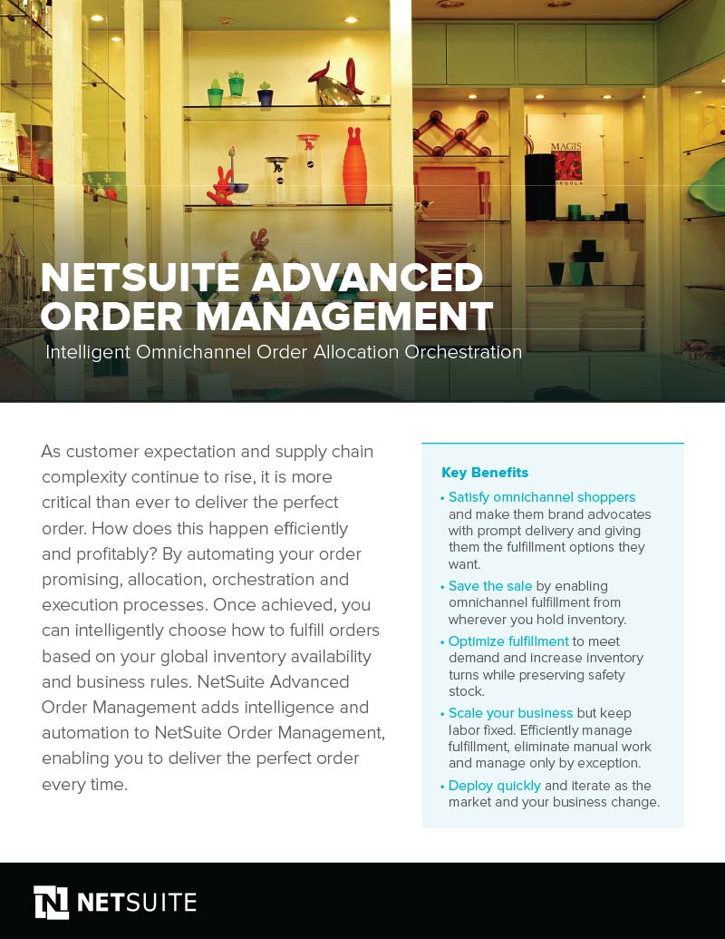 Advanced Order Management Functionality with NetSuite