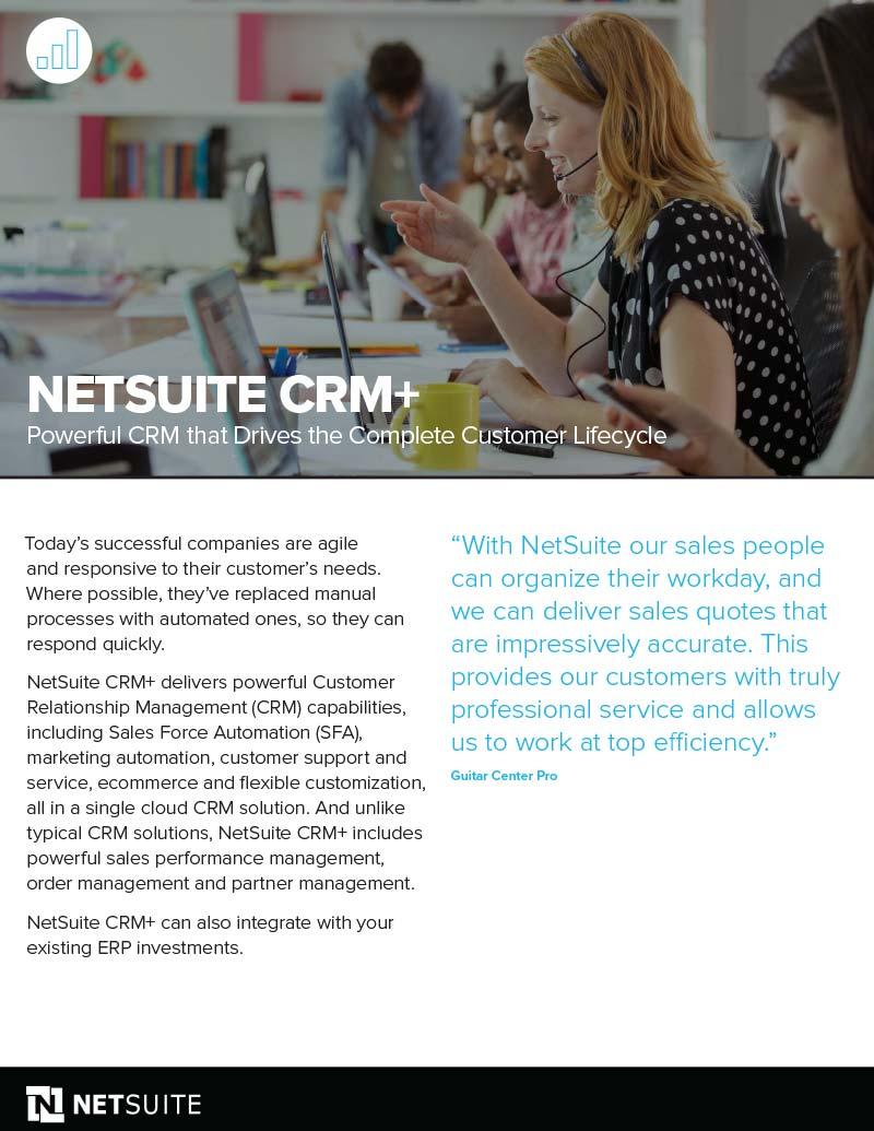 NetSuite CRM Datasheet