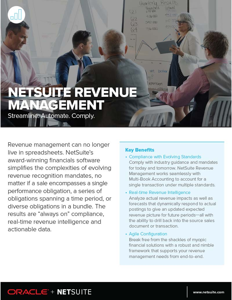 NetSuite ERP Revenue Recognition Module