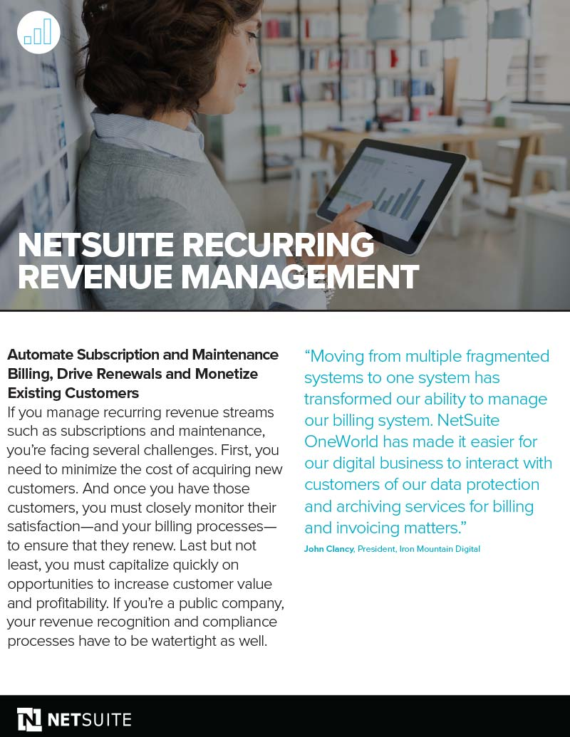 NetSuite Recurring Revenue Management Datasheet