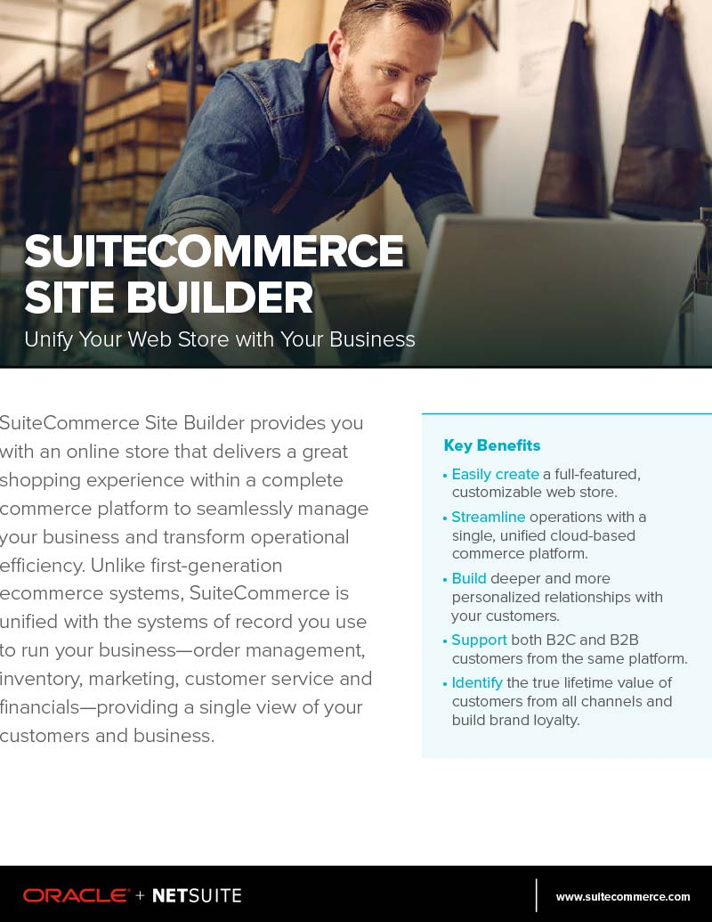 NetSuite SuiteCommerce Advanced Site Builder Flyer