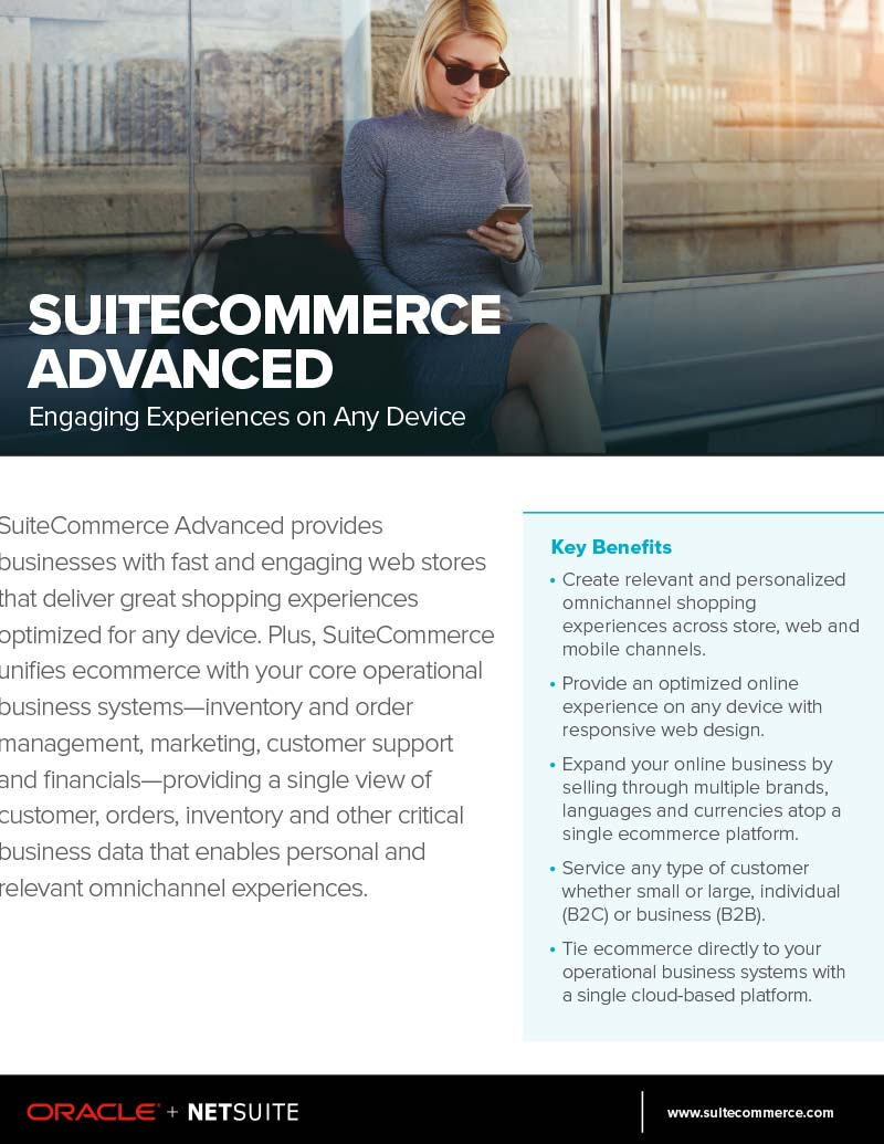 SuiteCommerce Advanced Flyer NetSuite Ecommerce Software